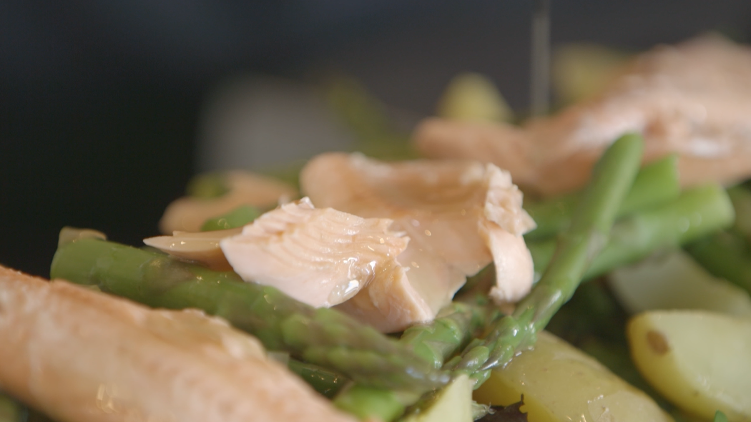 Wine-Poached Rainbow Trout with Asparagus & Potatoes